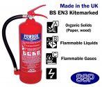6kg ABC Powder Fire Extinguisher (Stored Pressure) 27A 183B
