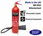 5kg CO2 (Carbon Dioxide) Fire Extinguisher 55B
