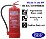 6 litre Water with Additive Fire Extinguisher (Stored Pressure) 27A