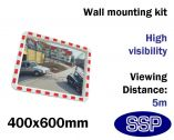 Convex Safety Mirror - Traffic & Industrial Use (400x600mm)
