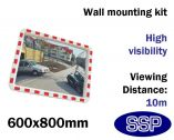 Convex Safety Mirror - Traffic & Industrial Use (600x800mm)