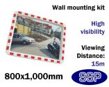Convex Safety Mirror - Traffic & Industrial Use (800 x 1000mm)