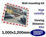 Convex Safety Mirror - Traffic & Industrial Use (1000 x 1200mm)