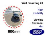 Round Convex Safety Mirror - Traffic & Industrial Use (600mm diameter)