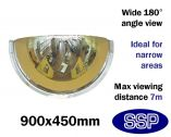 Complete-Vision 180 degree Panoramic Observation Mirror (900mm)