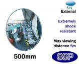 External Anti-Shock Convex Mirror (500mm)