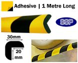 Edge Head Protection - Adhesive-backed Right Angle