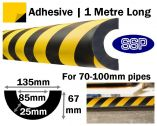 Pipe Impact Protection 85mm - 70 to 100mm pipes