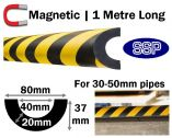 Magnetic Pipe Impact Protection 40mm - 30 to 50mm