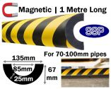 Magnetic Pipe Impact Protection 85mm - 70 to 100mm pipes