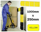 Wall Impact Protection - Four Yellow Cushions