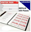 Visitor book refills - 300 passes