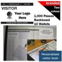 Personalised Visitor Book Two-Colour (1000 Passes)