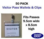 50 x Clear Pass Wallets and Clips
