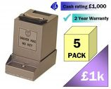 Mini CashGuard Safes 5 Pack Multi-Saver