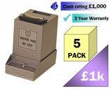 Mini CashGuard Safes 5 Pack Multi-Saver