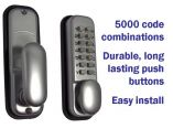 5000-Code Digital Satin Chrome Push Button Lock