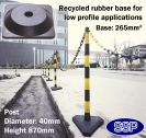 SSP 6 Post Chain Barrier Set Yellow/Black Rubber base
