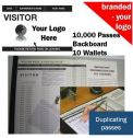 Personalised Visitor Book One Colour (10000 Passes)