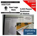 Personalised Visitor Book One Colour (5000 Passes)