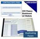 Contractors Discreet-Write Visitor Book (200 Passes)