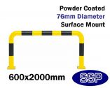 Internal Standard Collision Barrier (Powder Coated) 600x2000mm
