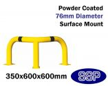 Internal Low Corner Collision Barrier (Powder Coated) 350x600x600mm