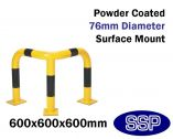 Internal Corner Collision Barrier (Powder Coated) 600x600x600mm