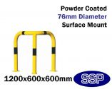 Internal Tall Corner Collision Barrier (Powder Coated) 1200x600x600mm