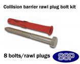 Rawl Fixing Bolt kit for Collision Barriers