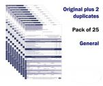 General Permit to Work Form Pack of 25 self duplicating sheets