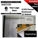 Personalised Two-Colour Visitor Books (5000 Passes)