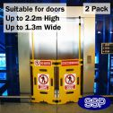 Lift Barrier | Elevator Guard (2 Panels)