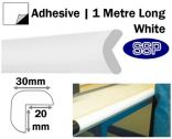Edge Impact Protection - Adhesive-Backed Right Angle White