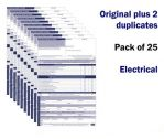 Electrical Work Permit To Work Pack Of 25 Self Duplicating Sheets