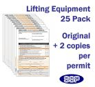 Lifting Equipment Permit To Work Pack Of 25 Self Duplicating Sheets