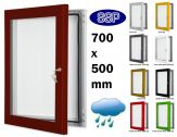 Key Lock Magnetic Board Poster Case 700mm x 500mm