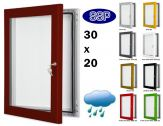 Key Lock Magnetic Board Poster Case 762mm x 508mm