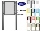 Post Mounted Pin Board A1 Single Door