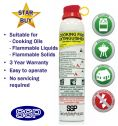 SSP Kitchen Extinguisher for the Cooking Oil, Barbecue and Household Fires