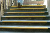 Anti-slip stairnosing 55x55x1000mm yellow