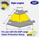 SSP Hose & Cable Protector Ramp XL Right Angle
