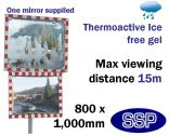 Thermo-Active Ice Free Traffic Mirror 800x1000mm