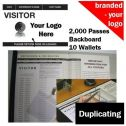 Personalised Visitor Book One Colour (2000 Passes)