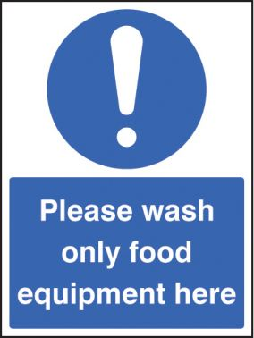 Wash only food equipment sign self adhesive vinyl - Plaque adhesive cuisine ...