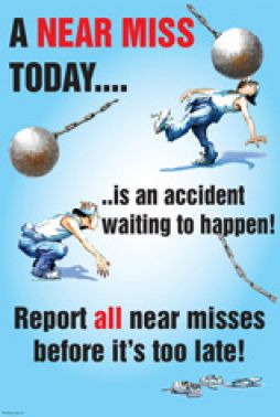 Report All Near Misses Before It S Too Late Cartoon Safety