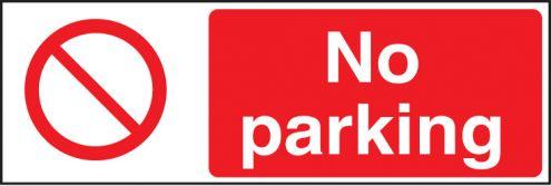 No Parking Sign Rigid Plastic 300 X 100mm 3218 Safety