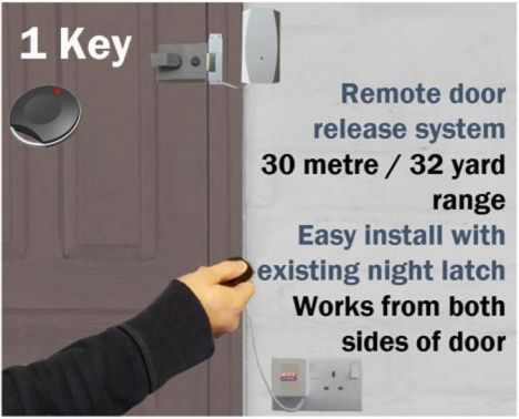 Wireless Key Fob Door Entry System Home Disabled Office