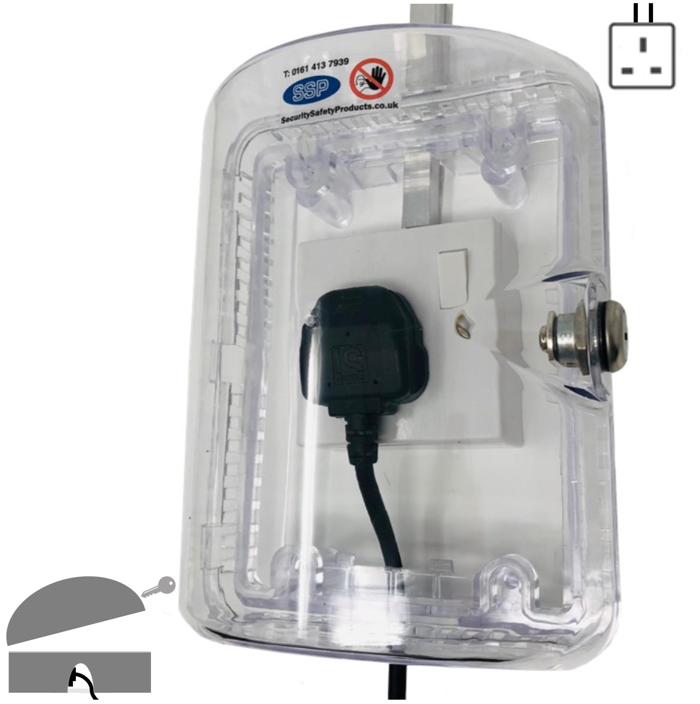 Clearstop Anti Tamper Locking Electrical Single Plug