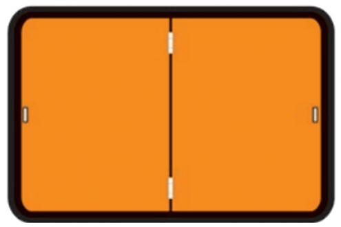Folding Adr Hazchem Orange Warning Plate Vertical